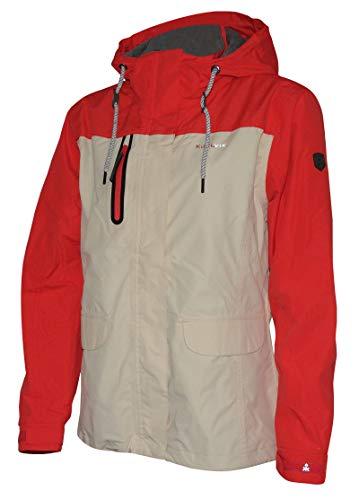 Kjelvik Damen Funktionsjacke Freizeit Jacke Übergang Outdoor Regenjacke Übergröße (44)