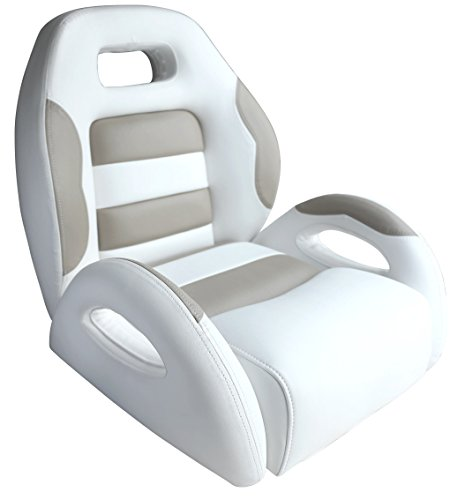 Leader Accessories Pontoon Captains Bucket Seat Boat Seat White/Taupe