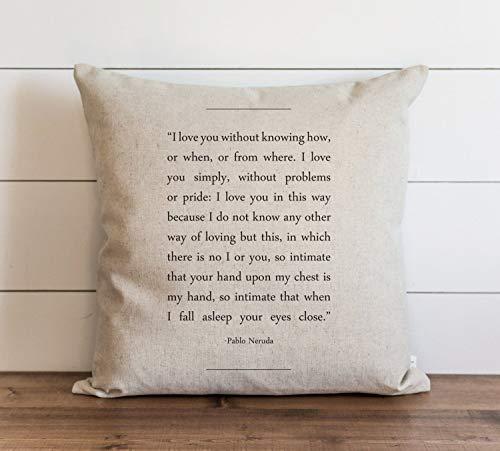 Book Collection_Pablo Neruda Funda de almohada // Everyday // Throw Pillow // Regalo // Acento almohada // Funda de cojín, almohada de vacaciones, decoración del hogar