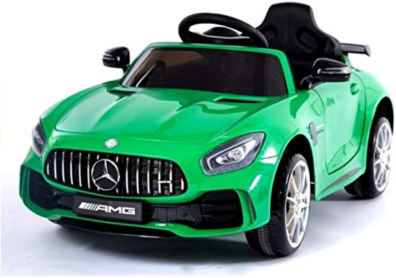 barato y de moda Coche eléctrico 12 V Mercedes SLS AMG GT R R R verde – Pack Luxe  ¡envío gratis!