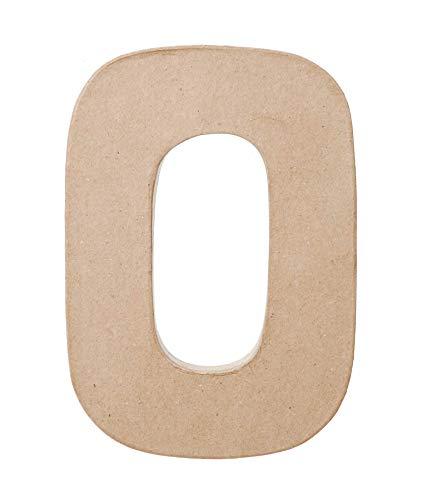 Darice Paper Mache Letter - O - 8 x 5.5 x 1 inches