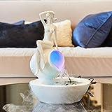 GFF El humidificador de la Fuente de Agua de la señora Hace los Adornos a Mano, decoración del hogar, artesanía Blanca, Muebles, Altura de 33 cm