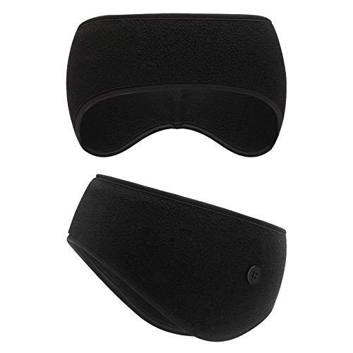 SAVITA 1 Stück Stirnbänder Winter Ohrenwärmer Dehnbar Stirnband Sport Ohrenschützer Thermal Headband für Damen, Herren, Mädchen (Schwarz)