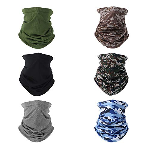 Emperia 6 Pack Unisex Sun UV Protection Face Mask Scarf Neck Gaiter Balaclava Reusable for Men Women Cobo 16
