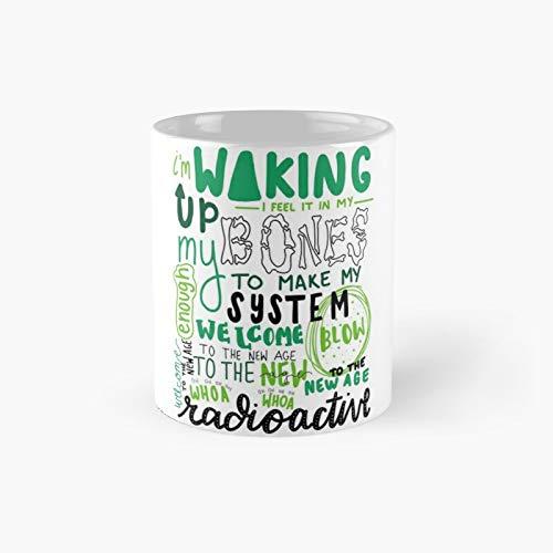 "Radioactive Lyric Art Classic - Taza de café con texto ""Best Gift Funny Coffee Mugs"""