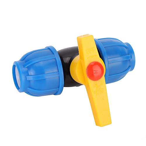 Niunion Válvula, 5 Piezas PE Accesorios de conexión de tubería de Agua válvula de Bola para Tubo Interruptor de conexión rápida 20 mm