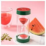 PUTOWUT Reloj de Arena de Frutas, 15 Minutos Sandía Temporizador, Usado como Tiempo de Juego del Niño y Tiempo de Tarea, Decoración Hogareña (15 Minutos, Sandía)