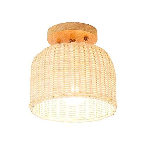 ZZC handgemaakte creatieve lamp, decoratieve verlichting, E27, veranda, slaapkamer, hal, decoratie, rotan