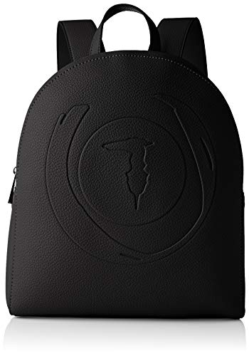 Trussardi Jeans, FAITH BACKPACK TUMBLED ECOLEAT Donna, Black, NR