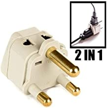 OREI Grounded Universal 2 in 1 Plug Adapter Type M for South Africa & more - High Quality - CE Certified - RoHS Compliant WP-M-GN