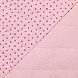 Algodón Double Gauze Stepper estrellas rosa - Precio por 0,5 metros