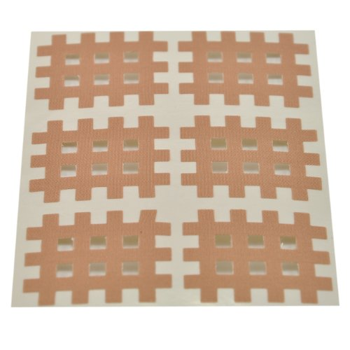 Medicalcorner24 Kinseologie Gittertape 3,6 cm x 2,8 cm 10 Bögen in Beige, Cross Patches, Cross Tape