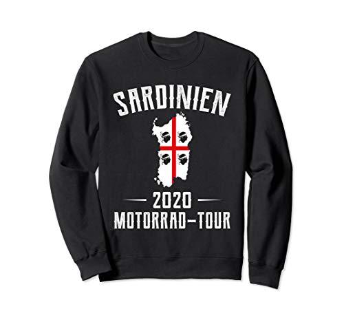 Sardinien Flagge Fahne Motorrad Tour Italien Wandern Sweatshirt