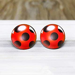 wangxiyan Fashionable Miraculous Ladybug Earrings - Hypoallergenic Nickel Free Earrings Sale
