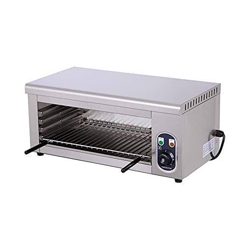 boknight Horno de pizza eléctrico comercial de una sola capa de calefacción de alimentos horno de hornear torta pan pollo asador con temporizador