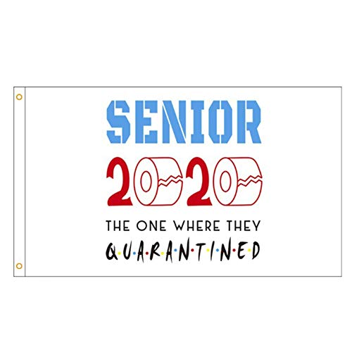 gerFogoo Seniors 2020 arazzo Decorativo Bandiera Giardino in Quarantena per Patio Prato Giardino Banner 3X5ft(H06)