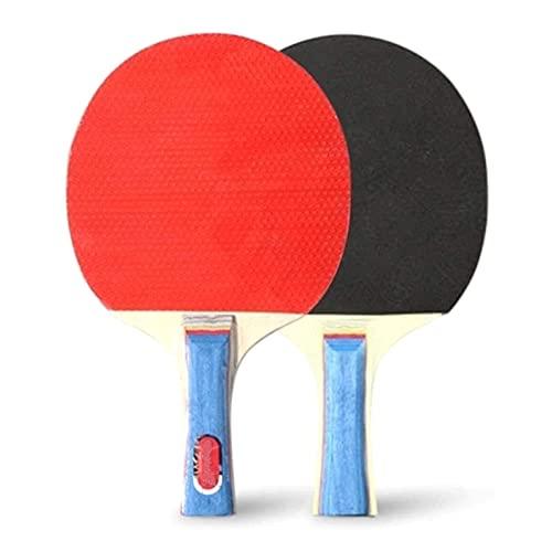 JIANGCJ bajo Precio. Ping Pong Paddle Paddle Raquetas de Tenis de Mesa 2 murciélagos de Pong Mango Largo Pong Juego de Raquetas de Entrenamiento Accesorios de Entrenamiento Kit de Paquete de r