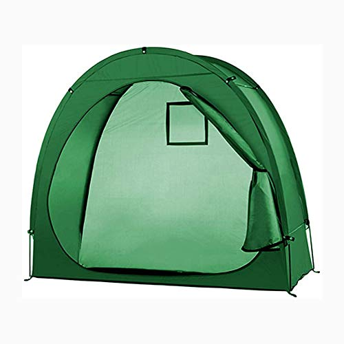 Joy-Beau Outdoor Bike Shed Storage Tent, Garden Bicycle Cover Accessories Window Design Camping Waterproof Pop Up Tents for Two Adult Bicycles with Room to Spare