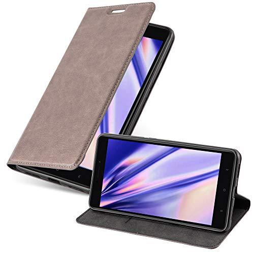 Cadorabo Hülle für Xiaomi Mi MAX 2 in Kaffee BRAUN - Handyhülle mit Magnetverschluss, Standfunktion & Kartenfach - Hülle Cover Schutzhülle Etui Tasche Book Klapp Style