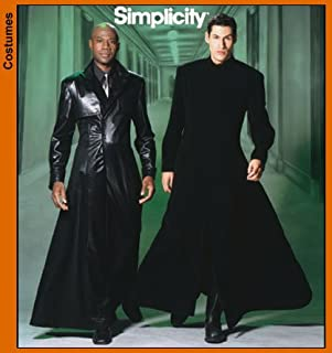 Simplicity 5386 Sew Pattern MEN'S and TEENS' DUSTER Matrix Style Costume SIZE XS-XL
