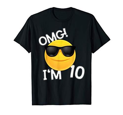 10ter Geburtstag Junge Emoticon SHIRT Junge 10 Jahre Geschen