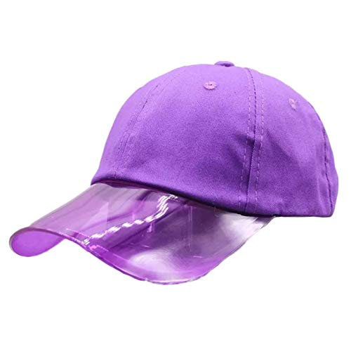 N/A Berretto da Baseball Visiera in plastica UV Estiva Cappelli da Sole da Uomo Cappellino da Spiaggia da Tennis Trasparente da Viaggio per Esterni Cappellini Snapback da Donna