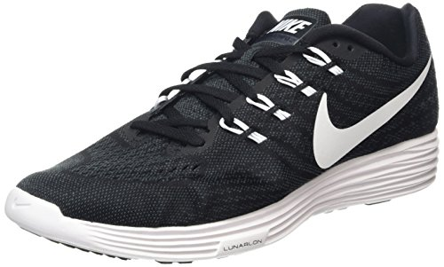 Nike Herren Lunartempo 2 Laufschuhe, Black/White/Grey (Black/White-Anthracite), 27 W