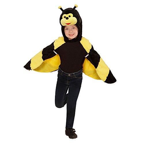 Widmann 97435 Kinderkostüm Biene aus Plüsch, Umhang mit Kapuze und Maske