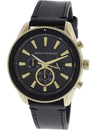 Armani Exchange Reloj Analógico para Hombre de Cuarzo con Correa en Cuero AX1818