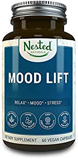 Mood Lift | Relaxation, Stress and Temporary Anxiety Relief Supplements | 60 Vegan Capsules | Naturally Sourced Ingredients | Serotonin Enhancer Complex Pills with 5-HTP, L-Methionine and Magnesium