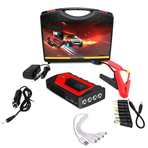 69800Mah Paquete De Baterías Externas, Automóviles De Emergencia Potencia De Arranque, por La Capacidad del Banco Cargador De Bancos Luces Led,Rojo,18000mAh