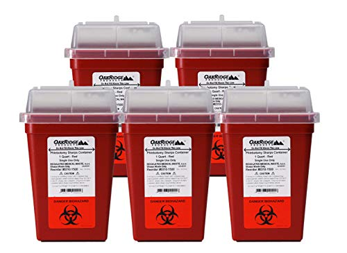 OakRidge Products 1 Quart Size (Pack of 10)   Sharps Disposal Container