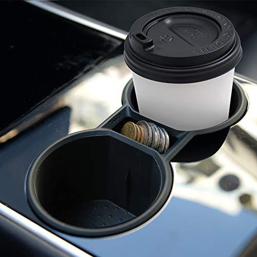 Mittelkonsole Getränkehalter aus Silikon (schwarz / weiss)
