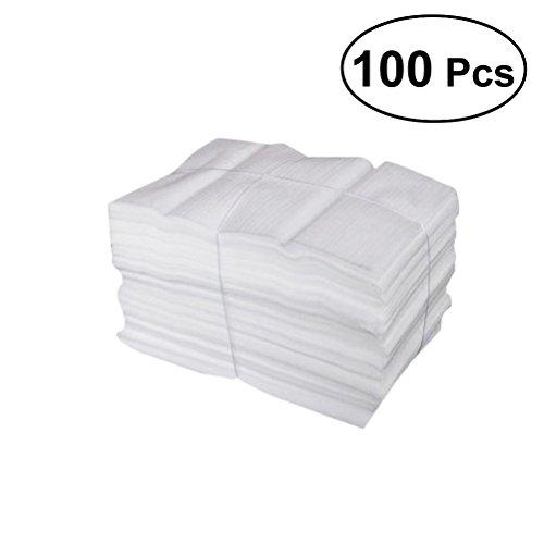 VORCOOL 100 sacchetti di schiuma per cuscini, per proteggere bicchieri, bicchieri, Cina e piatti, accessori per l'imballaggio, materiale di imbottitura per il trasloco