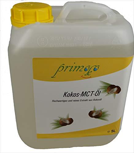 5Liter primoleo MCT Öl, aus Kokosöl gewonnen, Nachfüllpackung, versandkostenfrei!