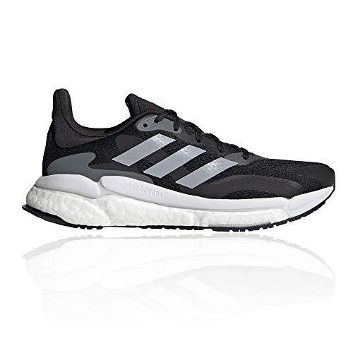 adidas Solar Boost 21 W, Zapatillas para Correr Mujer, Core Black Halo Silver Grey Six, 42 2/3 EU