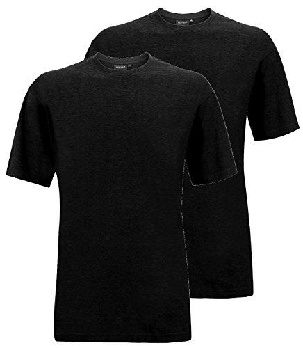 Redfield T-Shirt Doppelpack Rundhals schwarz 4XL