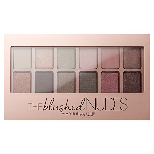 Maybelline New York Blushed Nudes Paleta de Sombras de Ojos, Tono: 01...