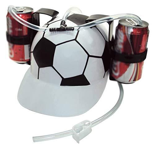 Makeupart Soda Cola Cerveza Hat Cap Beber Casco con Paja para el Juego de Fiesta