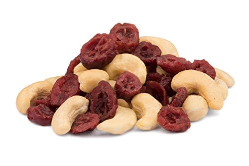 Mezcla orgánica de anacardos y arándanos – 1 kg – sin tostar y sin sal – crues