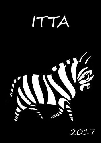 2017: Itta - personalisierter Kalender 2017 - A5 - 1 Woche pro Doppelseite - Zebra