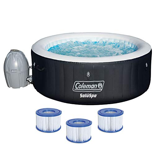 Coleman 71' x 26' Inflatable Spa 4-Person Hot Tub with 6 Filter Cartridges