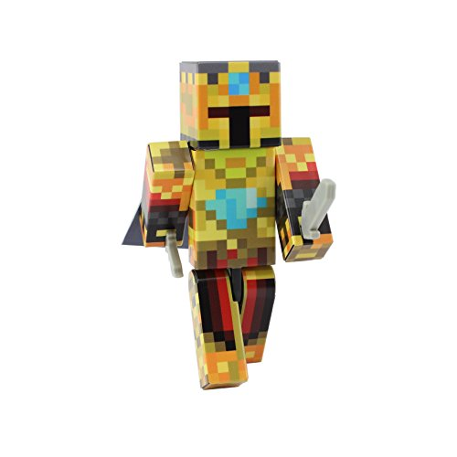EnderToys Gold Knight Action Figure Toy, 4 Inch Custom Series Figurines