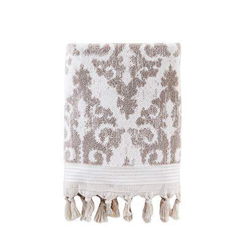 SKL Home by Saturday Knight Ltd. Mirage Fringe 100% Turkish Cotton Bath Towel, Taupe
