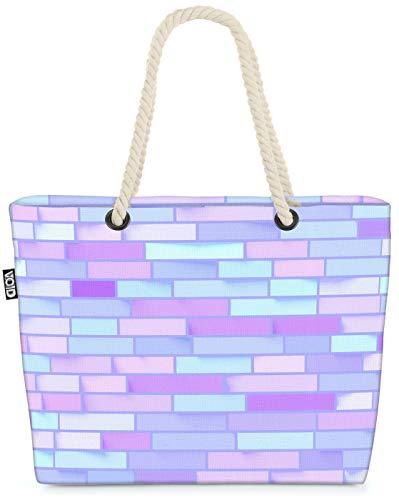 VOID Lightblue Wall Strandtasche Shopper 58x38x16cm 23L XXL Einkaufstasche Tasche Reisetasche Beach Bag