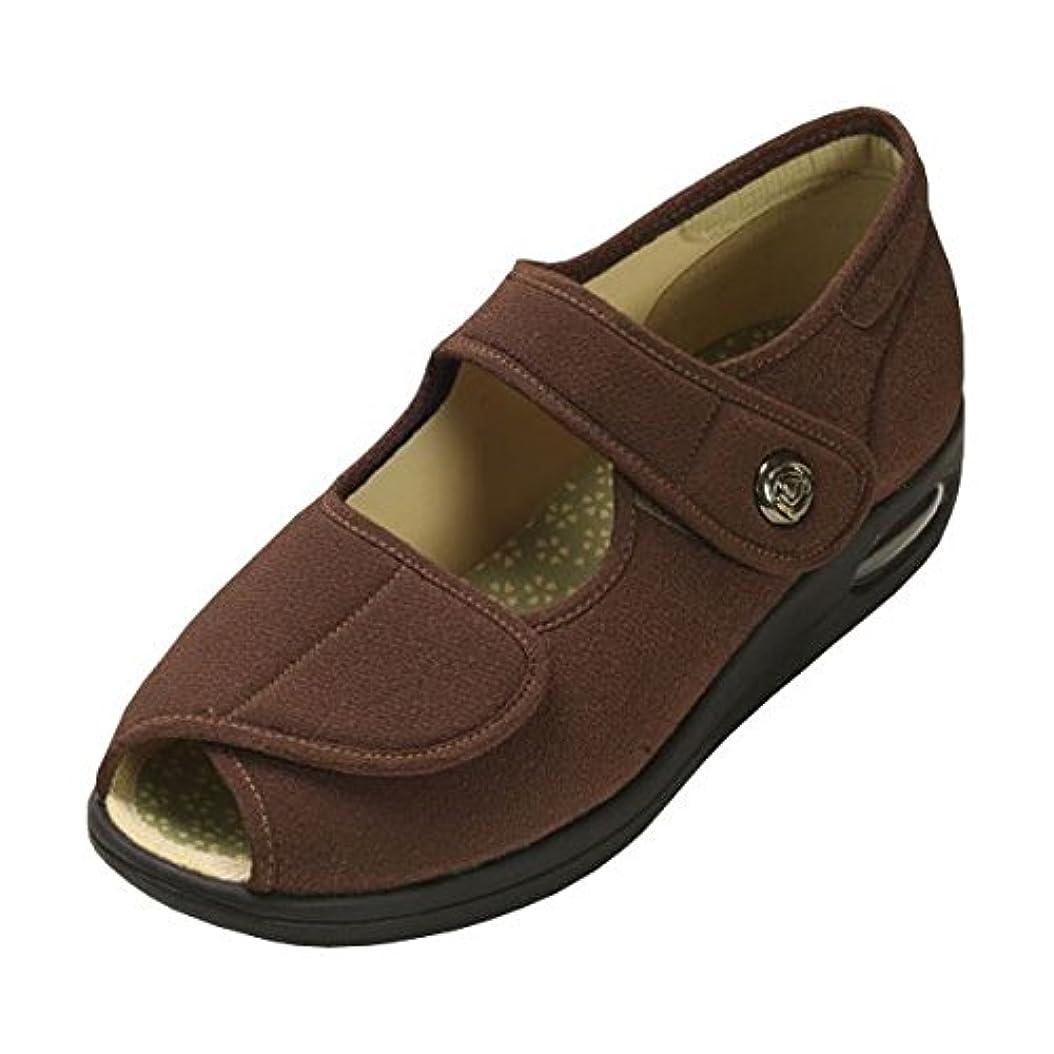 帝国甘美な困ったマリアンヌ製靴 彩彩~ちりめん~ W1103 婦人用 /25.5cm ブラウン ds-1431987