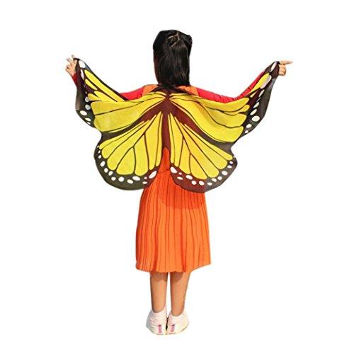 Lnefehsh Bufandas del Cabrito,Lenfesh Chica Muchachas Mariposa alas Ninfa Pixie Accesorio del Traje Hadas Cosplay Carnaval