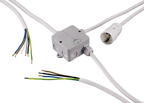 Sanitop-Wingenroth 28039 6 Verteilerbox für Küchenanschluss, Montagehilfe, Anschluss von Elektrogeräten in der Küche, Küchenanschlussbox, Energieverteiler, Weiß