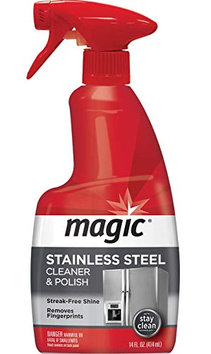 Magic Stainless Steel Cleaner & Polish Trigger Spray - Protects Appliances From Fingerprints and Leaves a Streak-free Shine - 14 fl. Oz.
