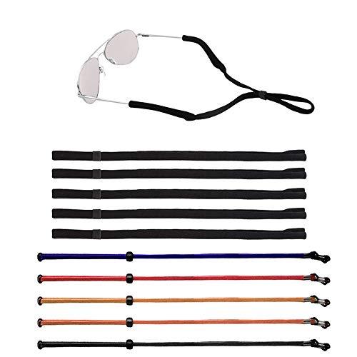 10 piezas Unisexo Ajustable Retenedor de gafas, Senhai Correa de retención de gafas de sol Titular de anteojos Cuerda De forma segura Cordón de cuello para deportes, lectura, actividades al aire libre
